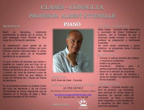 Clases-Consulta para piano
